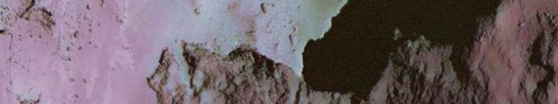 Detail of comet 67P nucleus