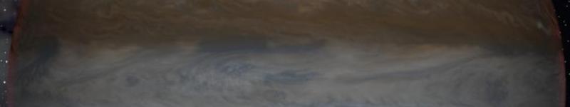 Jupiter view from moon Ganimedes