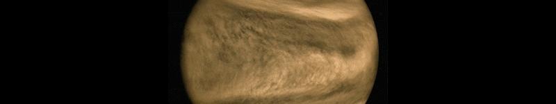 Venus' atmosphere, in the ultraviolet range